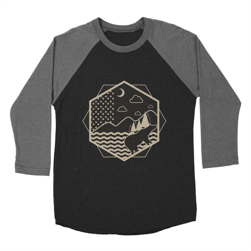A night on the Wild Men's Baseball Triblend Longsleeve T-Shirt by Diardo's Design Shop