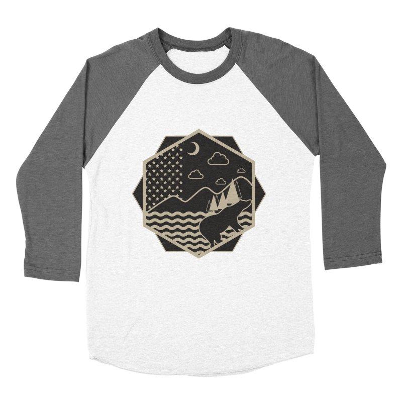 A night on the Wild Men's Baseball Triblend Longsleeve T-Shirt by Diardo's Design Shop