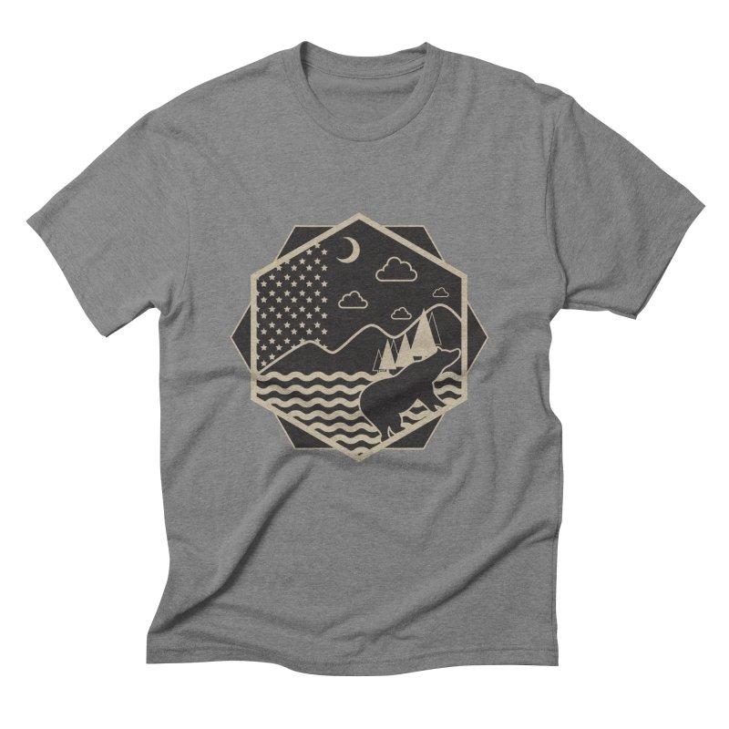 A night on the Wild Men's Triblend T-shirt by Diardo's Design Shop
