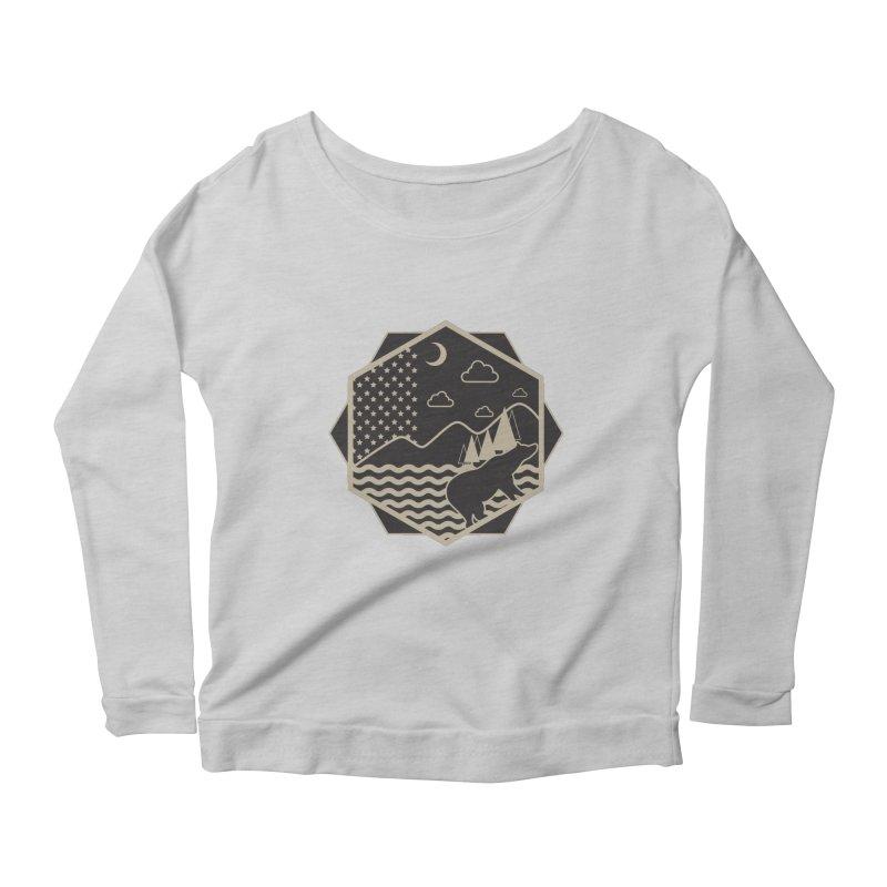 A night on the Wild Women's Scoop Neck Longsleeve T-Shirt by Diardo's Design Shop