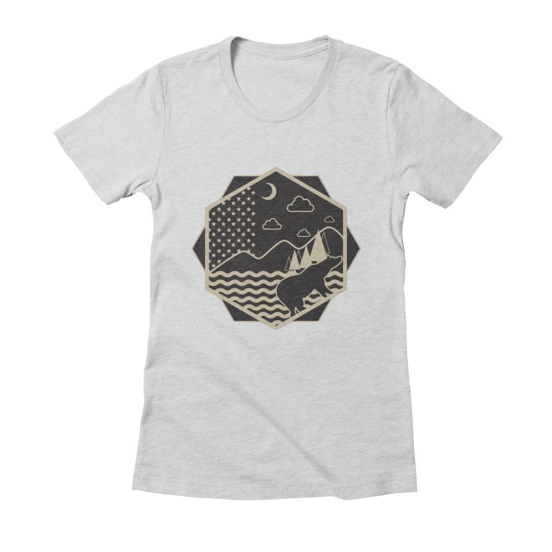 A night on the Wild Women's Fitted T-Shirt by Diardo's Design Shop