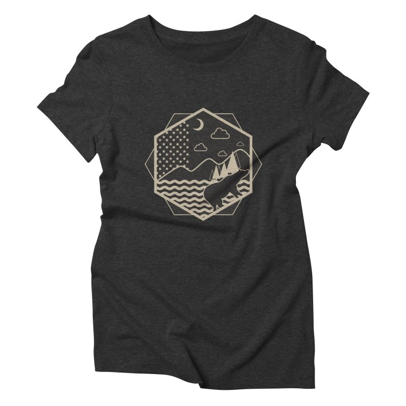 A night on the Wild Women's Triblend T-shirt by Diardo's Design Shop