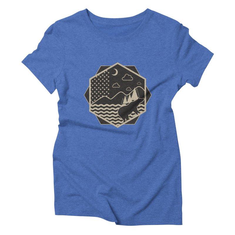A night on the Wild Women's Triblend T-shirt by Diardo's Design Shop