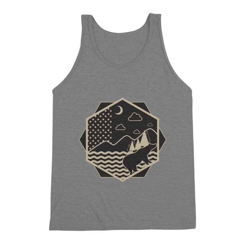 A night on the Wild Men's Triblend Tank by Diardo's Design Shop