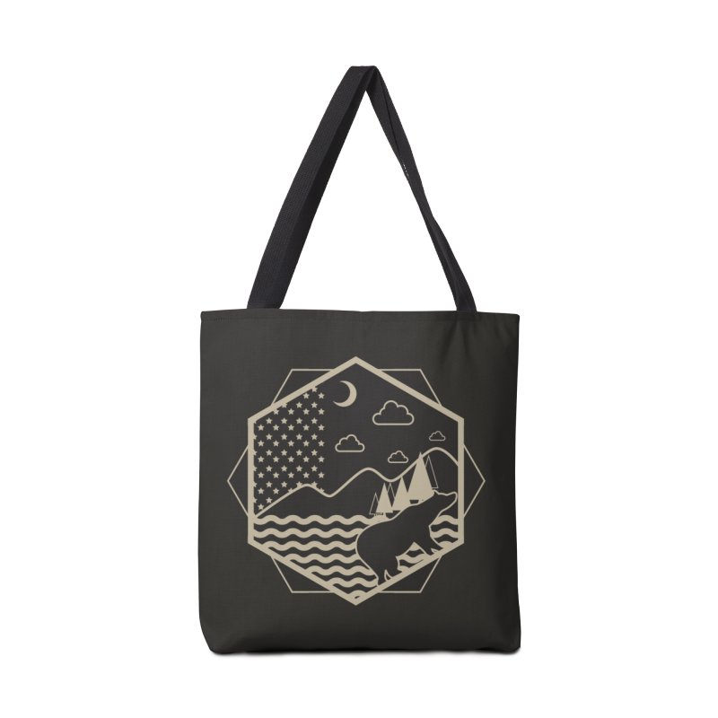 A night on the Wild Accessories Tote Bag Bag by Diardo's Design Shop