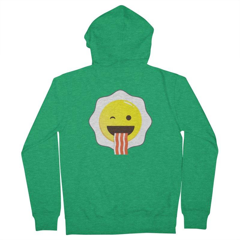 Breakfast Wink Men's Zip-Up Hoody by Diardo's Design Shop