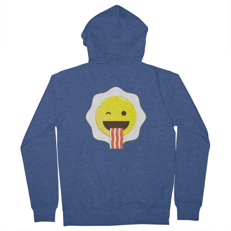 Breakfast Wink Men's French Terry Zip-Up Hoody by Diardo's Design Shop