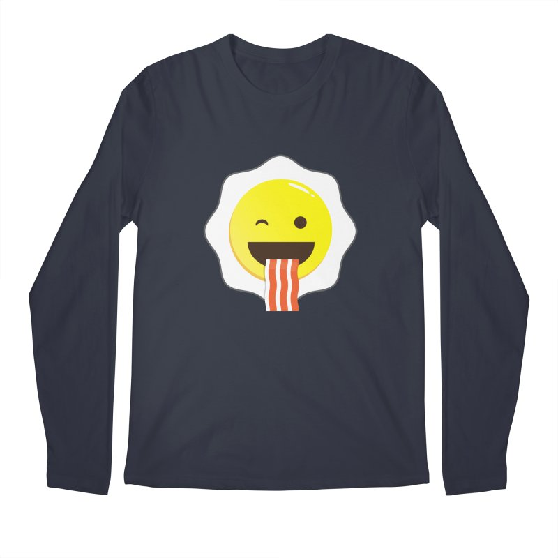 Breakfast Wink Men's Regular Longsleeve T-Shirt by Diardo's Design Shop