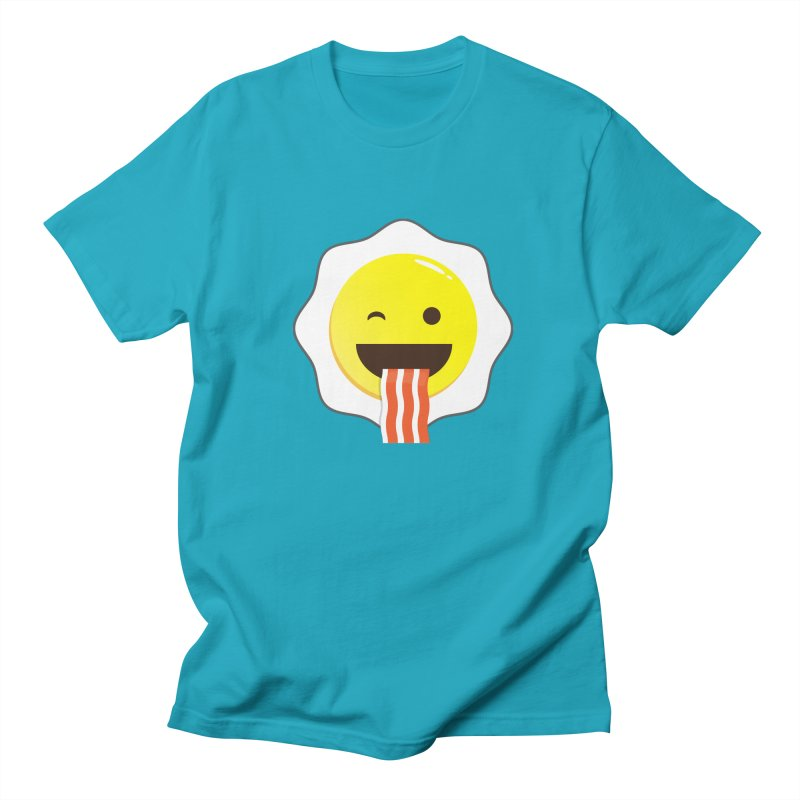 Breakfast Wink Men's Regular T-Shirt by Diardo's Design Shop