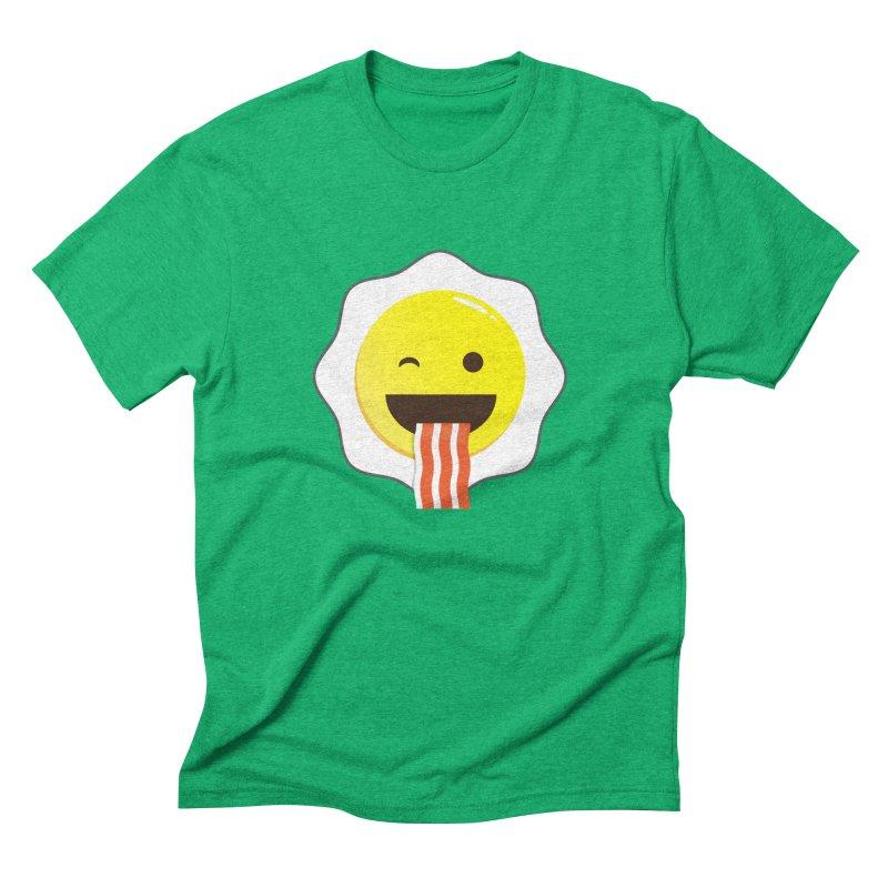 Breakfast Wink Men's Triblend T-Shirt by Diardo's Design Shop