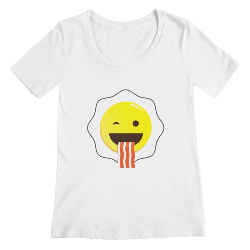 Breakfast Wink Women's Scoopneck by Diardo's Design Shop