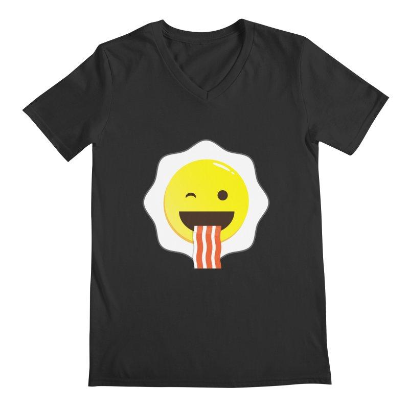 Breakfast Wink Men's V-Neck by Diardo's Design Shop