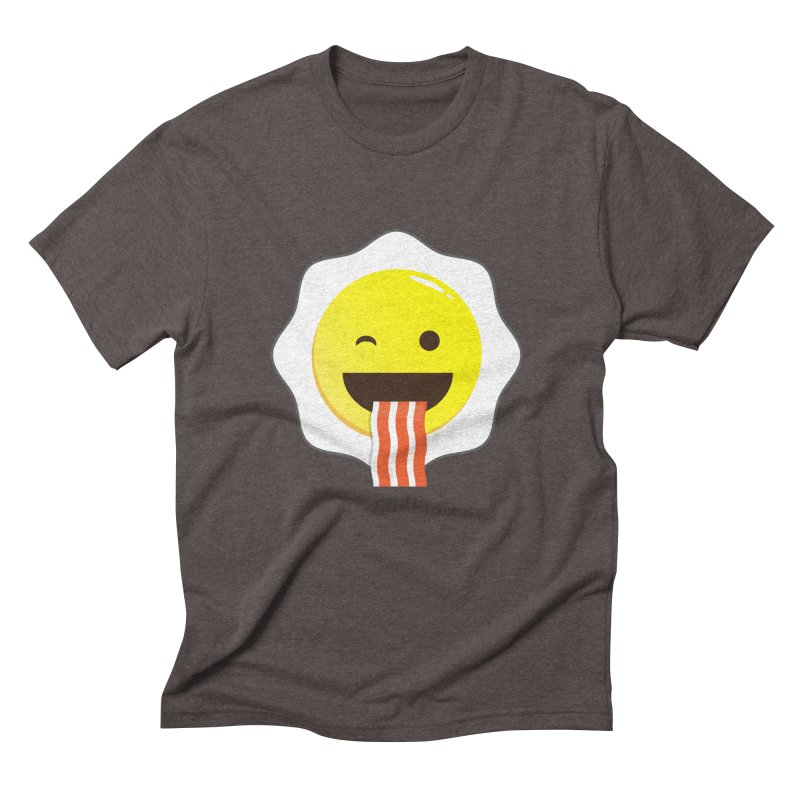 Breakfast Wink Men's Triblend T-shirt by Diardo's Design Shop