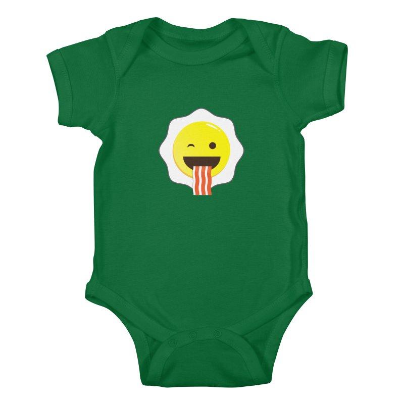 Breakfast Wink Kids Baby Bodysuit by Diardo's Design Shop