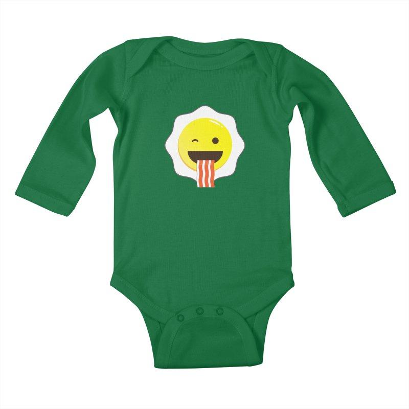 Breakfast Wink Kids Baby Longsleeve Bodysuit by Diardo's Design Shop