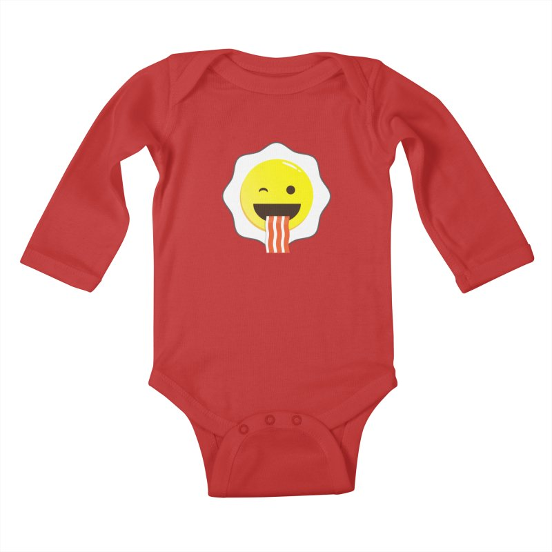Breakfast Wink Kids Baby Longsleeve Bodysuit by Diardo's Design Shop