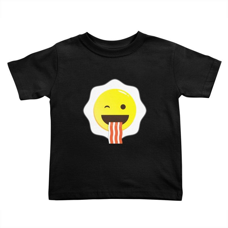 Breakfast Wink Kids Toddler T-Shirt by Diardo's Design Shop