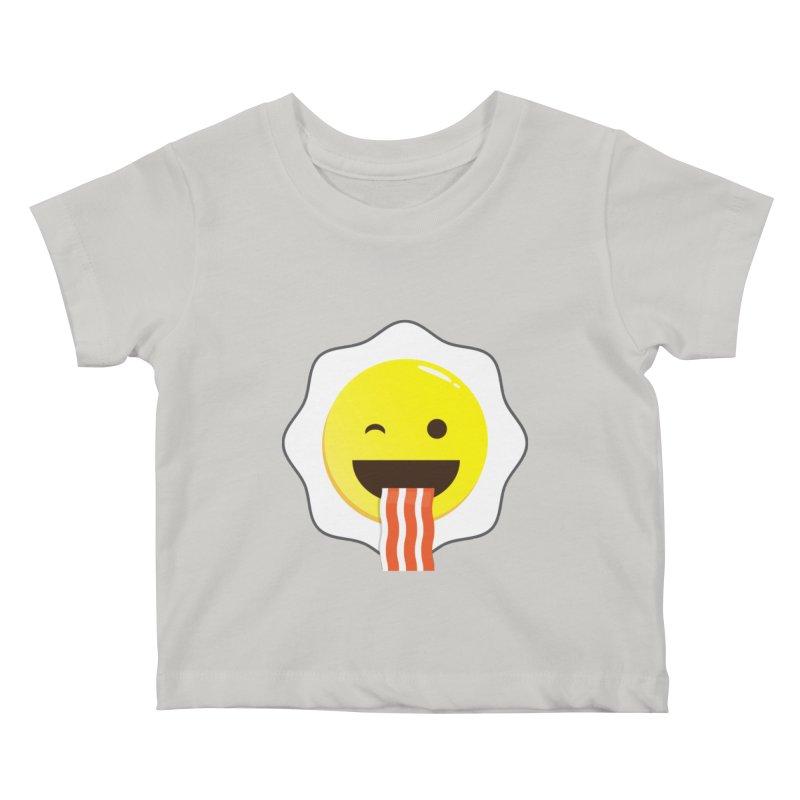 Breakfast Wink Kids Baby T-Shirt by Diardo's Design Shop