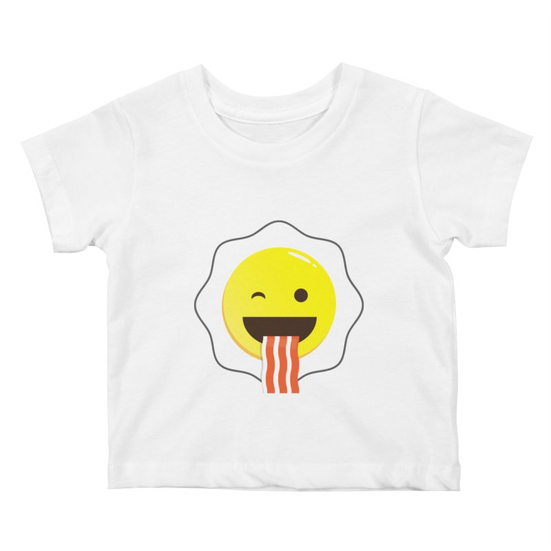 Breakfast Wink Kids Baby T-Shirt by Diardo's Design Shop