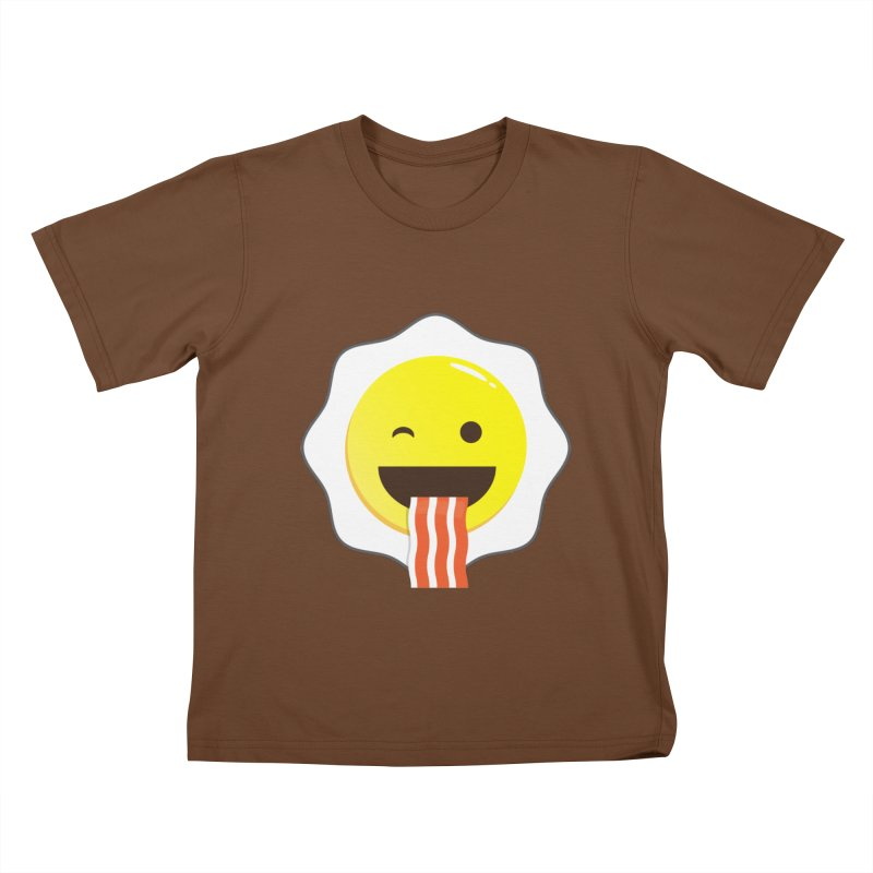 Breakfast Wink Kids T-Shirt by Diardo's Design Shop