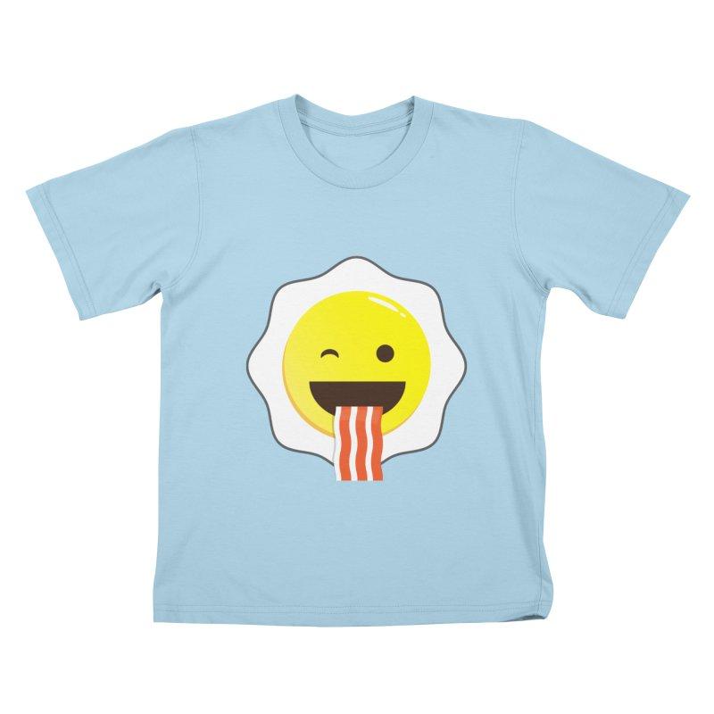Breakfast Wink Kids T-Shirt by Diardo's Design Shop