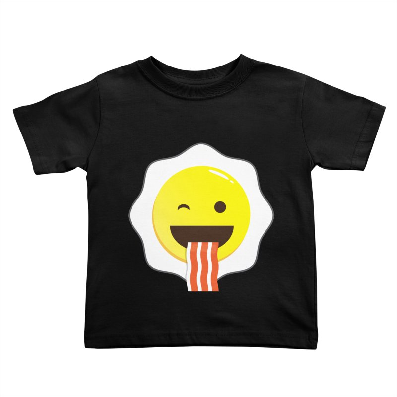 Breakfast Wink Kids Toddler T-Shirt by Diardo's Design Shop