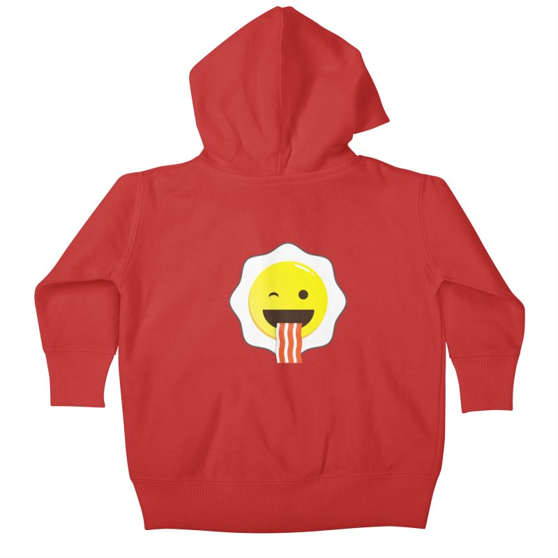 Breakfast Wink Kids Baby Zip-Up Hoody by Diardo's Design Shop