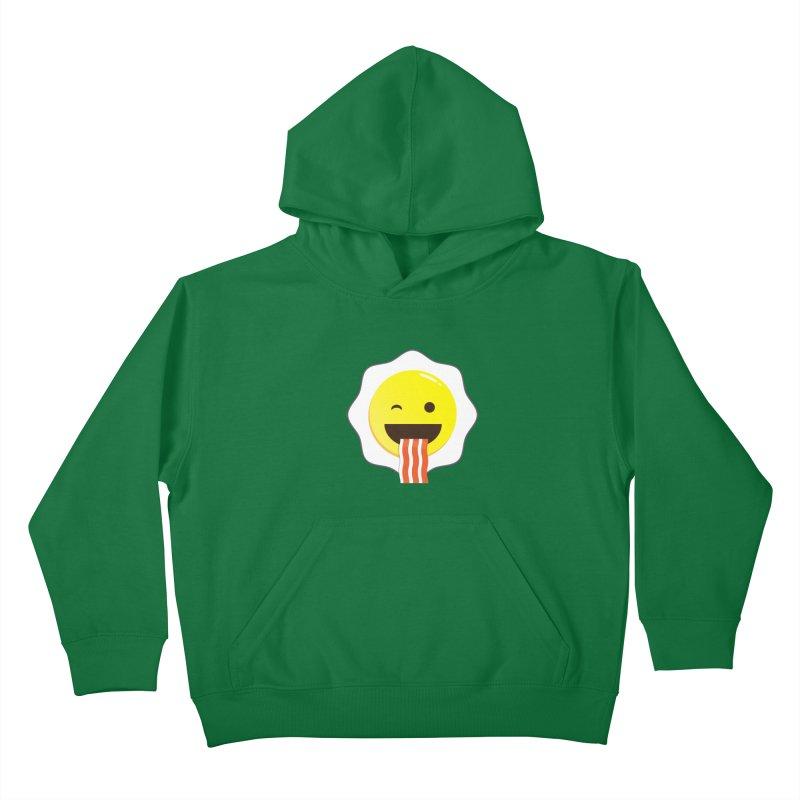 Breakfast Wink Kids Pullover Hoody by Diardo's Design Shop