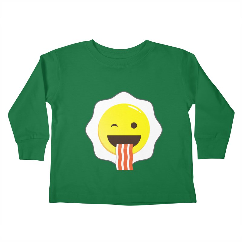 Breakfast Wink Kids Toddler Longsleeve T-Shirt by Diardo's Design Shop