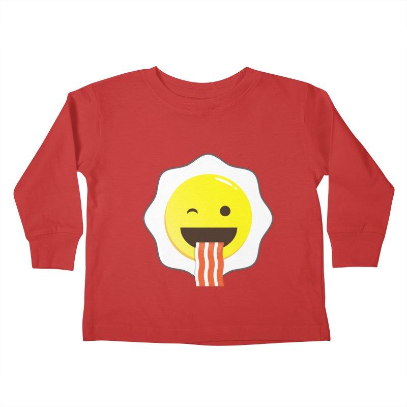 Breakfast Wink Kids Toddler Longsleeve T-Shirt by Diardo's Design Shop