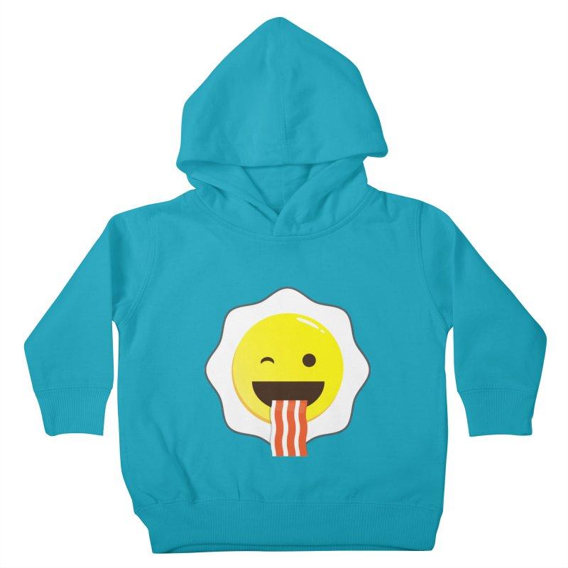 Breakfast Wink Kids Toddler Pullover Hoody by Diardo's Design Shop