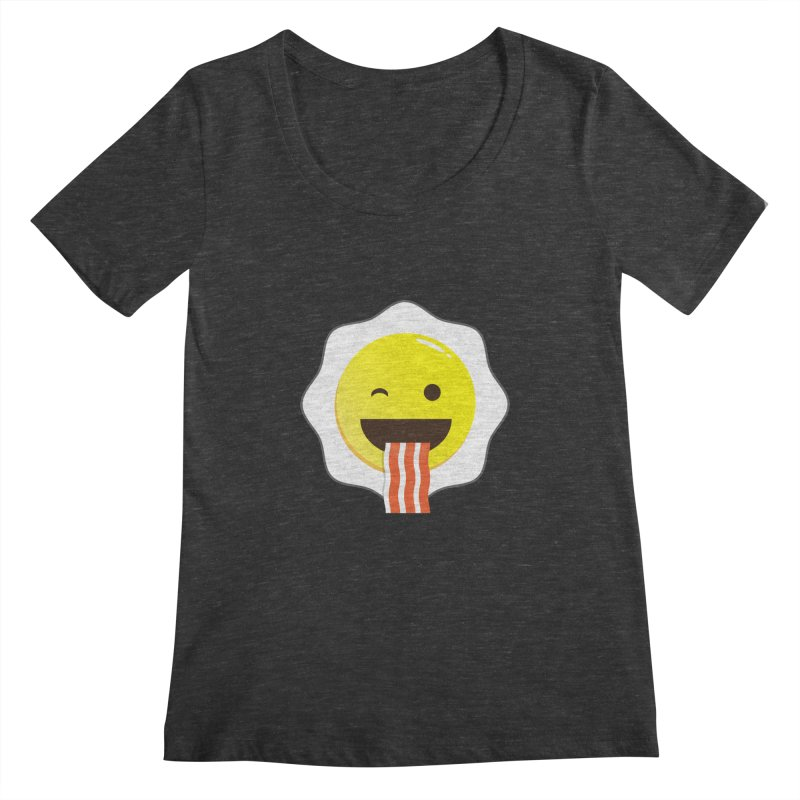 Breakfast Wink Women's Scoopneck by Diardo's Design Shop