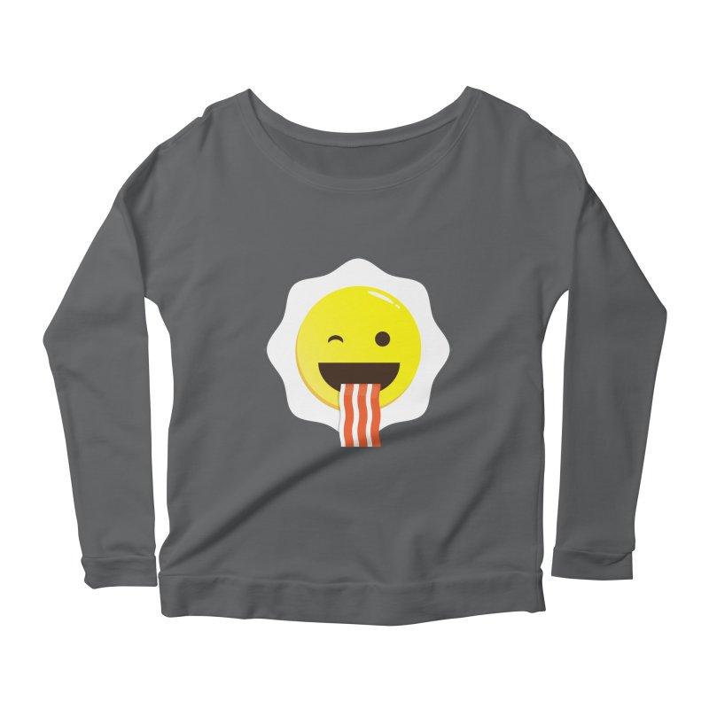 Breakfast Wink Women's Scoop Neck Longsleeve T-Shirt by Diardo's Design Shop