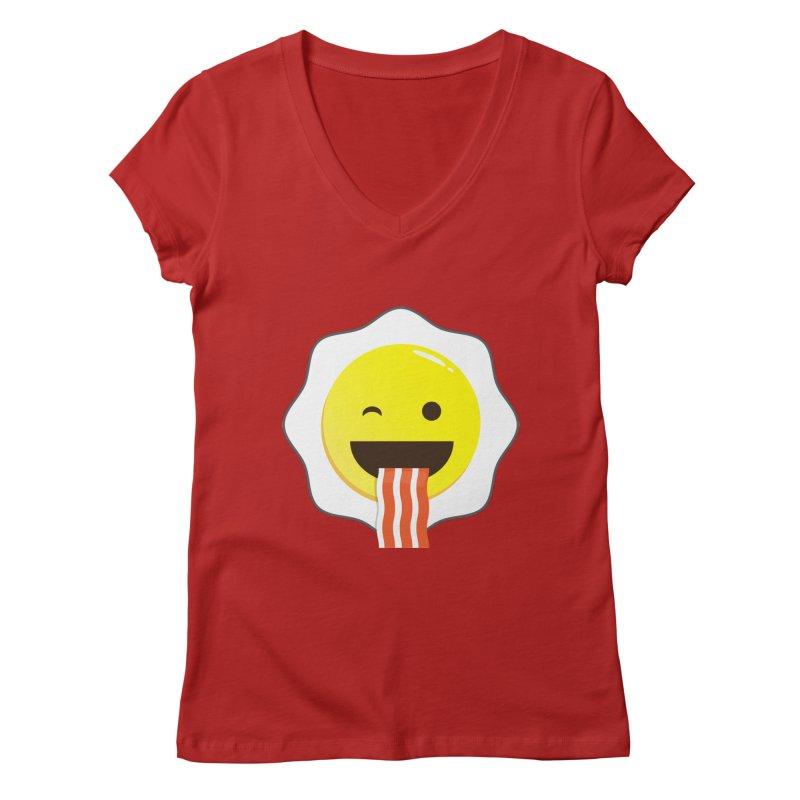 Breakfast Wink Women's V-Neck by Diardo's Design Shop