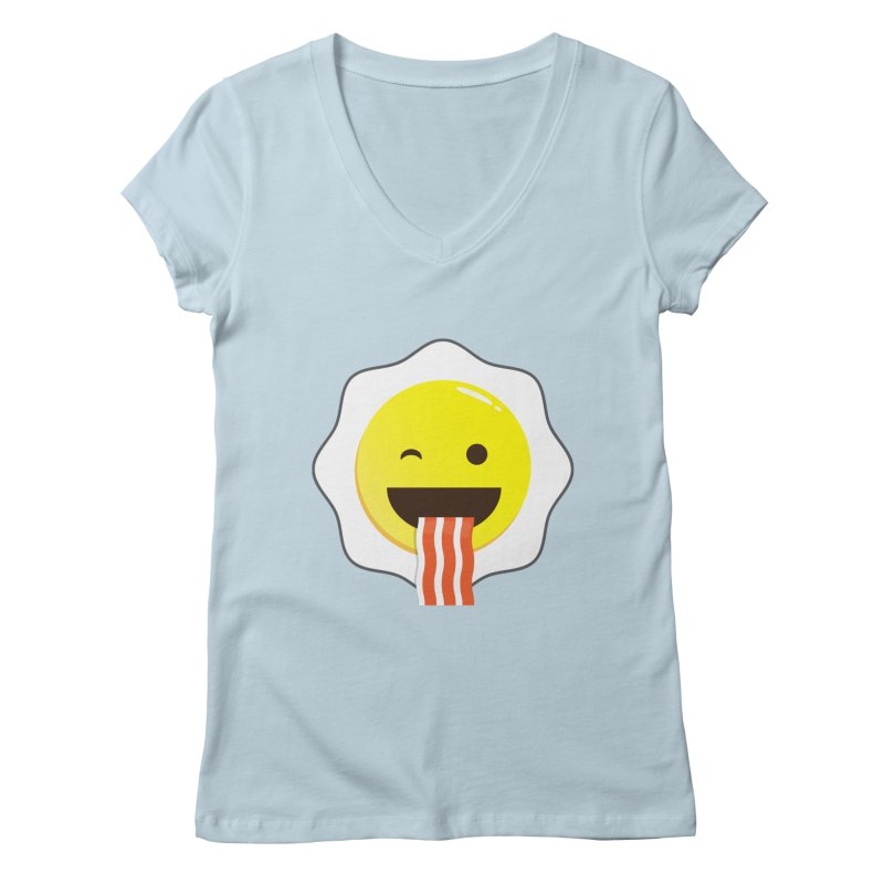 Breakfast Wink Women's V-Neck by Diardo's Design Shop