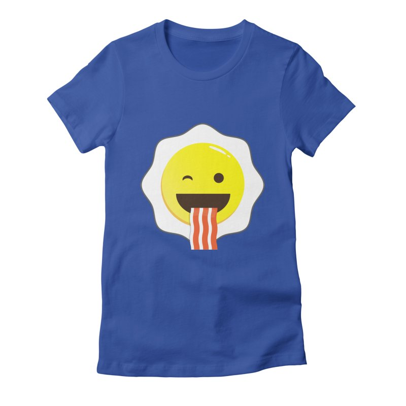 Breakfast Wink Women's Fitted T-Shirt by Diardo's Design Shop