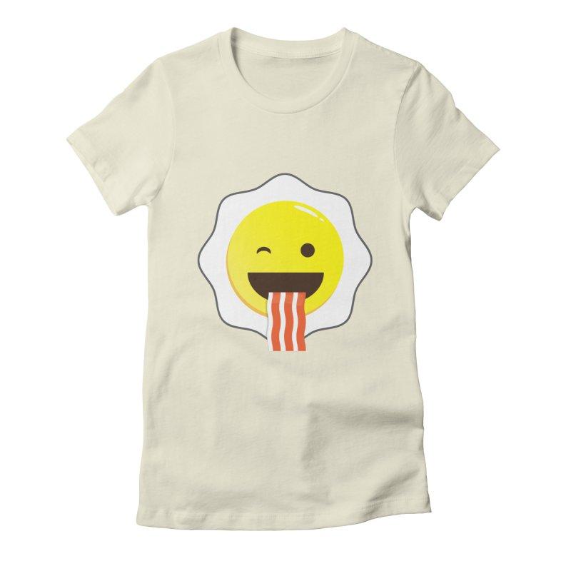 Breakfast Wink Women's Fitted T-Shirt by Diardo's Design Shop