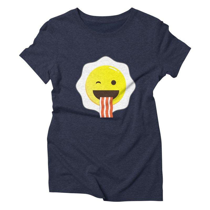 Breakfast Wink Women's Triblend T-Shirt by Diardo's Design Shop