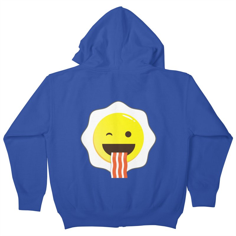 Breakfast Wink Kids Zip-Up Hoody by Diardo's Design Shop