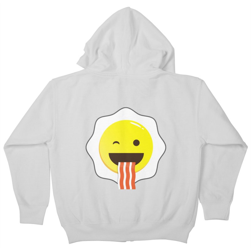 Breakfast Wink Kids Zip-Up Hoody by Diardo's Design Shop