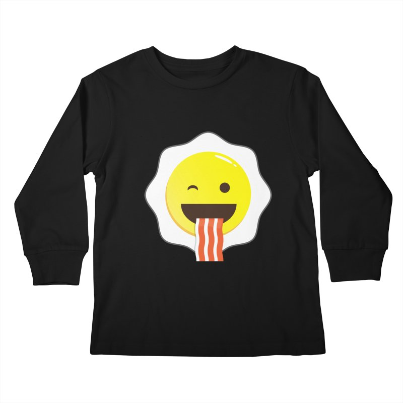 Breakfast Wink Kids Longsleeve T-Shirt by Diardo's Design Shop