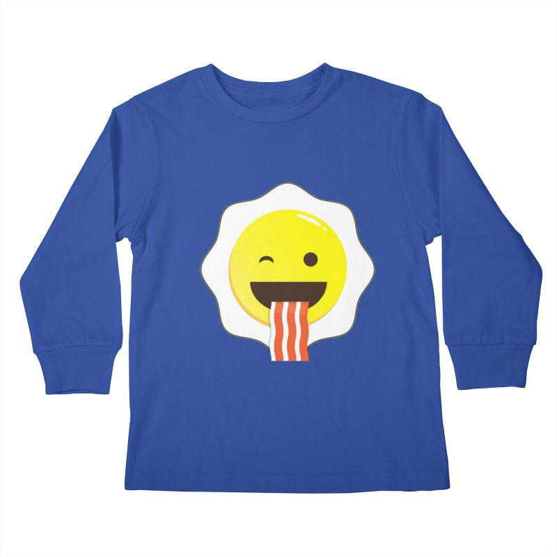 Breakfast Wink Kids Longsleeve T-Shirt by Diardo's Design Shop