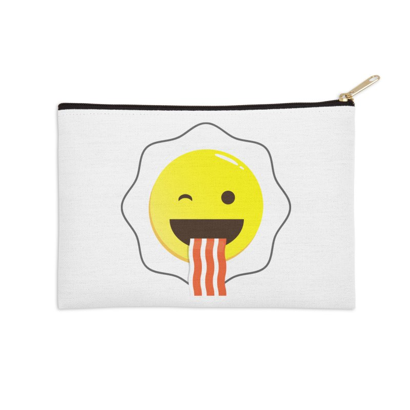 Breakfast Wink Accessories Zip Pouch by Diardo's Design Shop