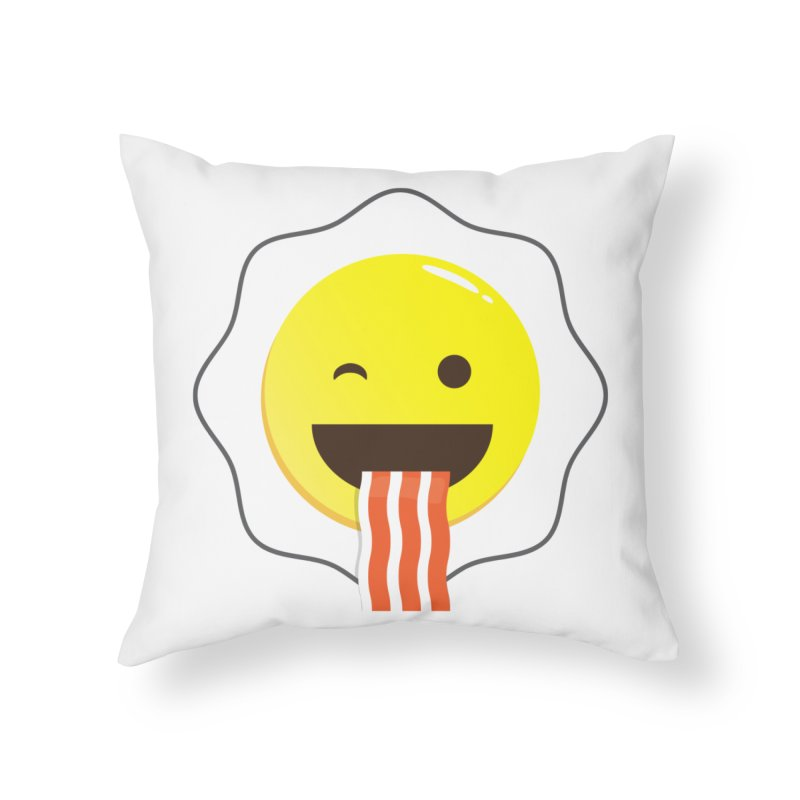 Breakfast Wink Home Throw Pillow by Diardo's Design Shop