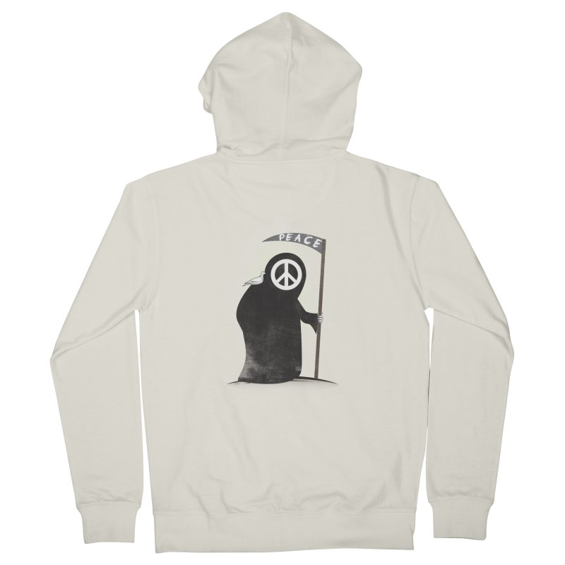 I'm here to bring Peace Men's French Terry Zip-Up Hoody by Diardo's Design Shop