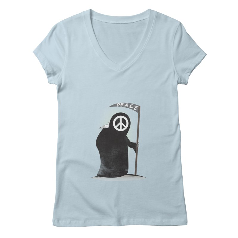 I'm here to bring Peace Women's V-Neck by Diardo's Design Shop