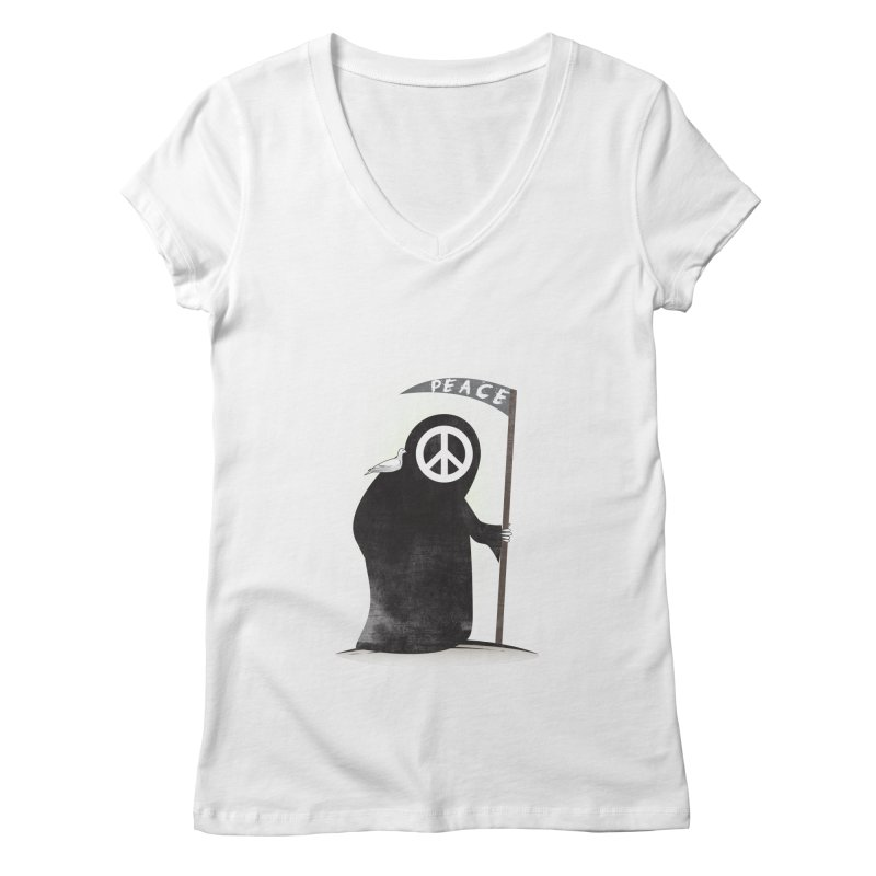 I'm here to bring Peace Women's Regular V-Neck by Diardo's Design Shop