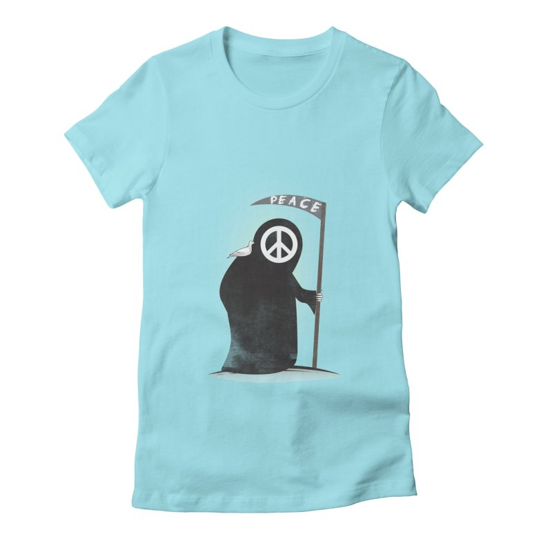 I'm here to bring Peace Women's Fitted T-Shirt by Diardo's Design Shop