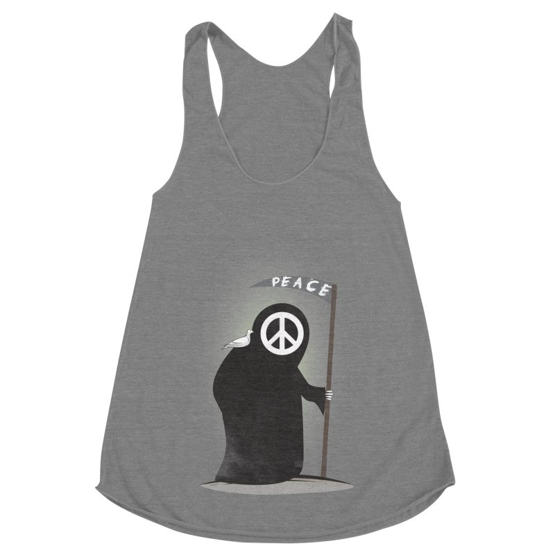 I'm here to bring Peace Women's Racerback Triblend Tank by Diardo's Design Shop