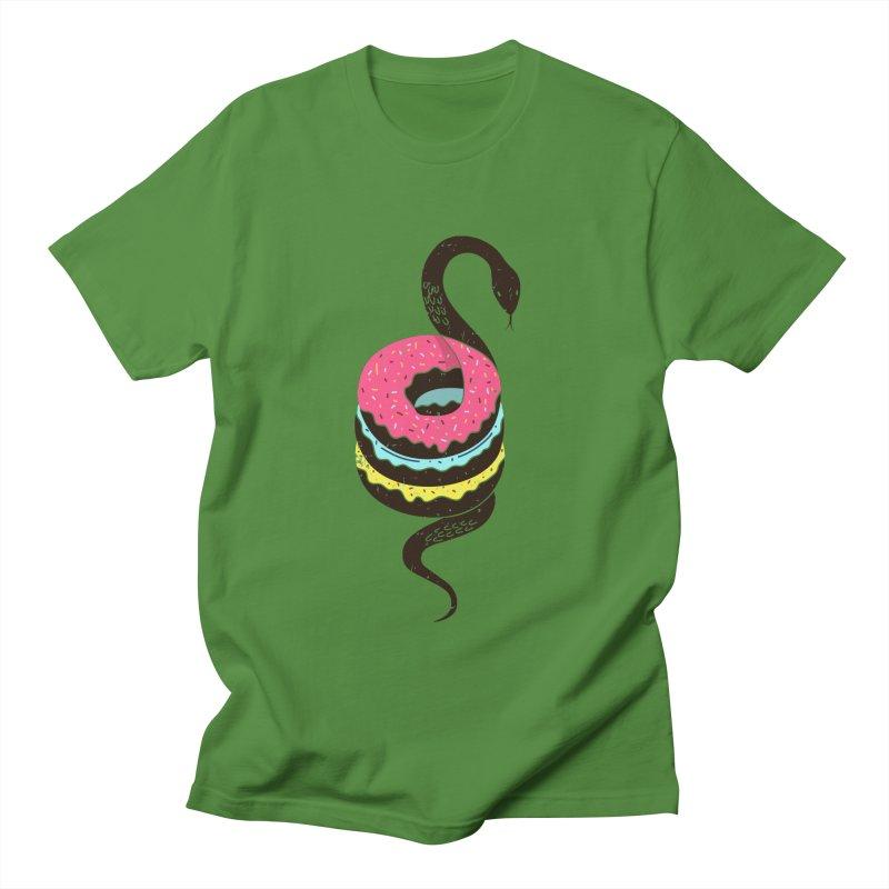 Snake Donuts Men's T-Shirt by Diardo's Design Shop